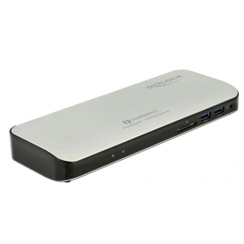 DELOCK - Thunderbolt 3 Dockingstation 5K - HDMI/USB3.0/USB-C/SD/LAN