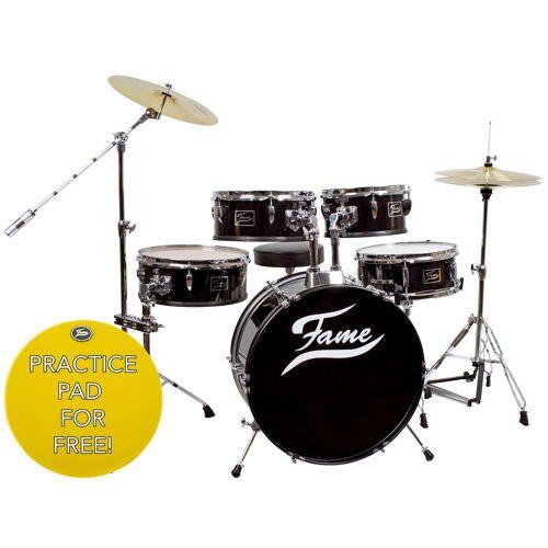 Fame - Schlagzeug Practice Set incl. Cymbals & Hocker