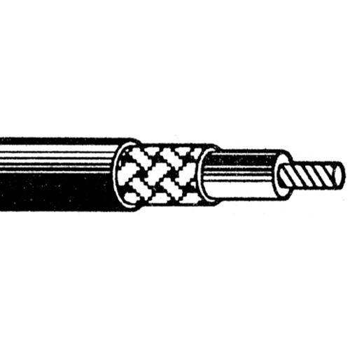 Göldo - Kabel koxial abgeschirmt 1 adrig, 1 Meter, schwarz