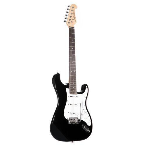 J & D - E-Gitarre ST Rock BK Black