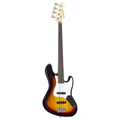 J & D - JB Bass Fretless 3-Tone Sunburst