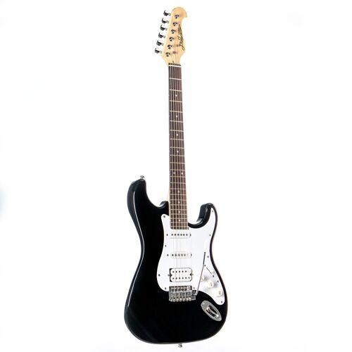 J & D - E-Gitarre ST Rock HSS BK Black