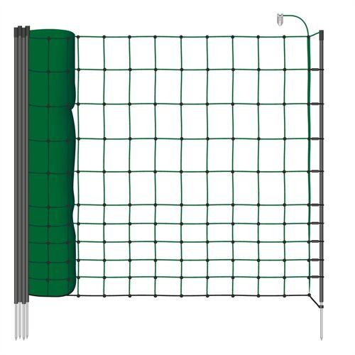 EURONETZ 25m Kleintiernetz, Katzennetz, 75cm, grün