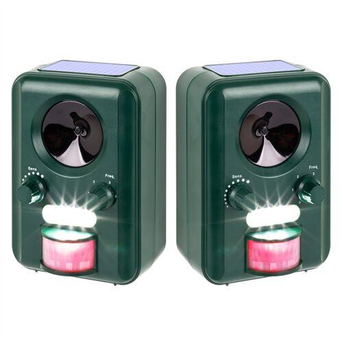 VOSS.sonic Doppelpack: VOSS.sonic 2000 Ultraschall Abwehr (Solar + Blitzlicht) - Katzenschreck, Hundeabwehr