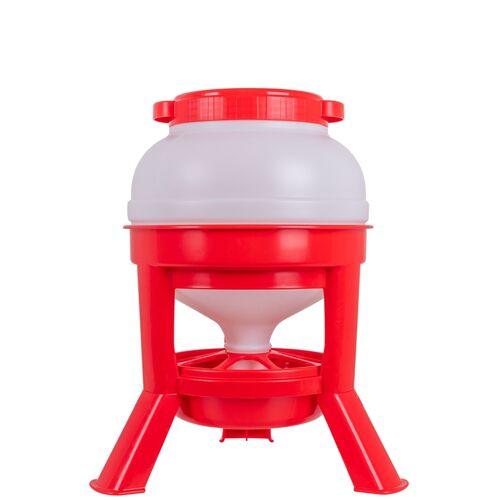 Siphon Futterautomat für Geflügel - robuster Geflügelfutterautomat, 15kg