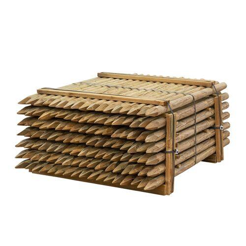 VOSS.farming 119x VOSS.farming Holzpfähle rund, Zaunpfahl Holz, Kesseldruckimprägniert Klasse 4, 150cm x 60mm
