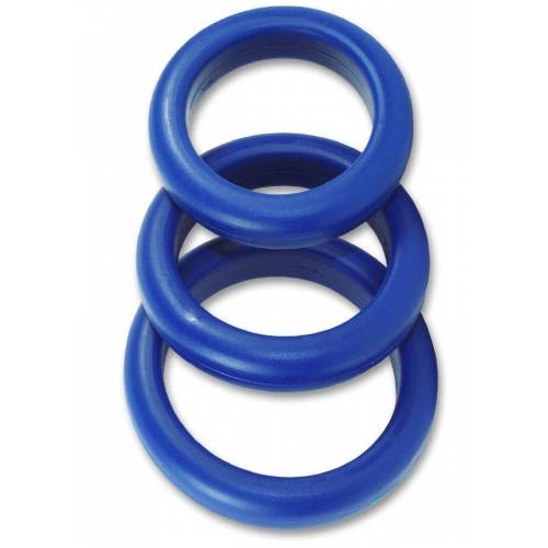 - 3 er Silikon Cockring Set - Cockstar Blue Boy Rings