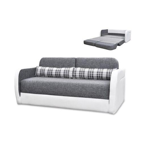 Unique Schlafsofa 2-Sitzer VILO - Grau & Weiß