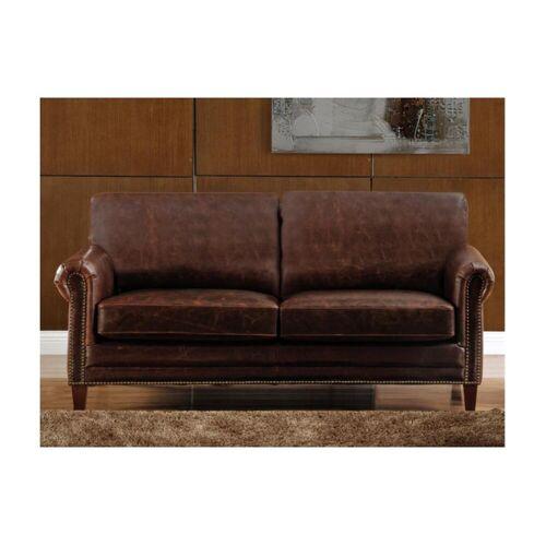 Unique Ledersofa Vintage 2-Sitzer CASSANDRA - Braun