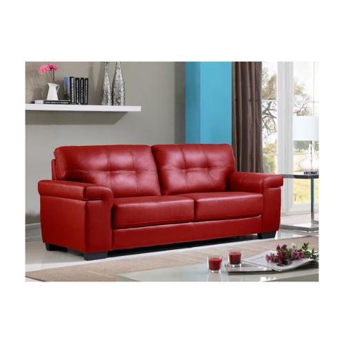 Unique Ledersofa 3-Sitzer HAZEL - Rot