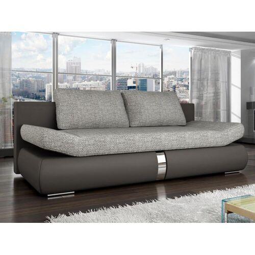 Unique Schlafsofa 2-Sitzer JADEN - Taupe & Grau
