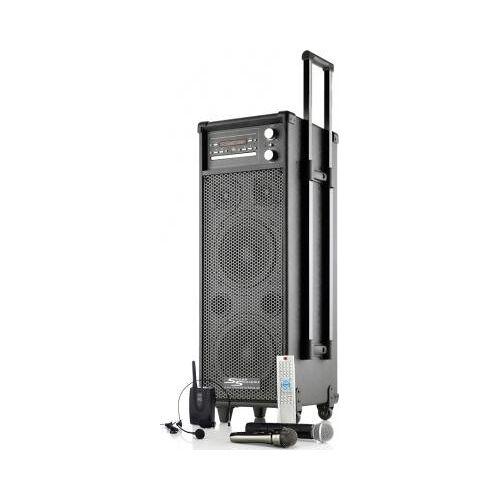 MSS Akkubetriebener Lautsprecher MSS-400i mit Akku / Funkmikrofon / Funkheadset / CD / MP3 / DVD / USB / Radio