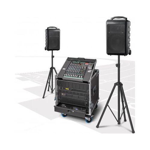 RCS Audio Musikanlage / Soundanlage PCS-600W kabellos mit zwei Akku-Funklautsprecher