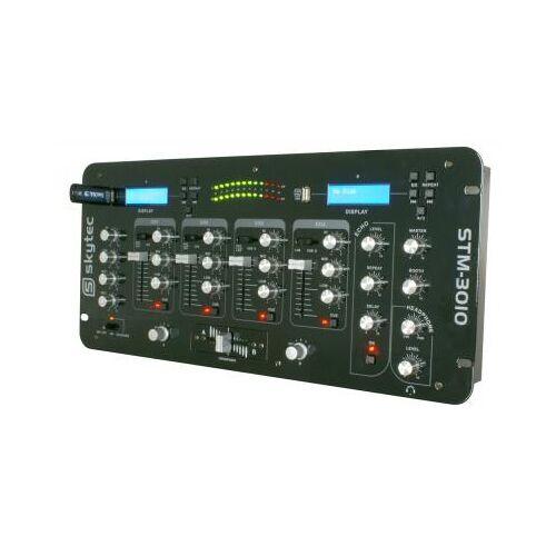 Skytec STM-3010 4-Kanal-Mischpult mit USB + Display
