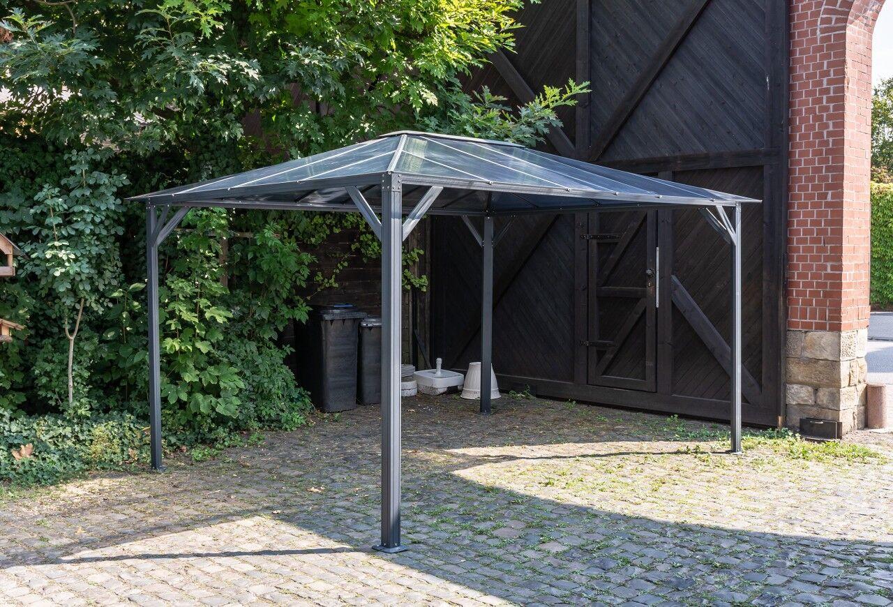 stabilezelte 3x4 m Pavillon ROMANCE Hardtop Pergola Aluminium mit Polycarbonatplatten