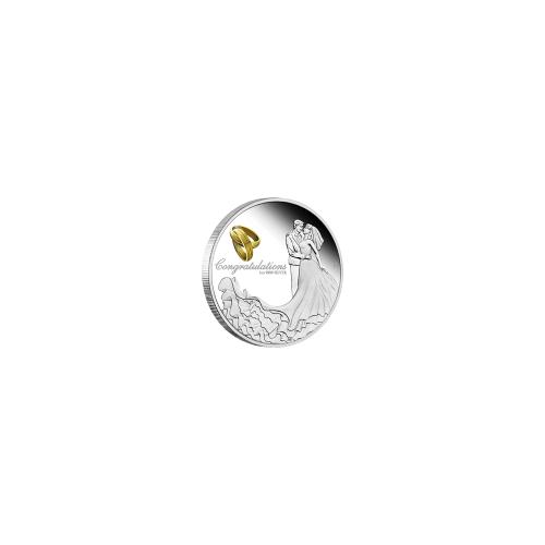 1 Unze Silber Hochzeitsmünze 2019 Proof-Qualität
