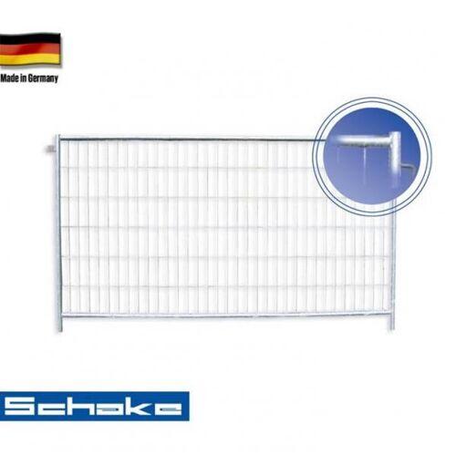 """Schake Mobilzaun / Bauzaun """"Profi S"""" (mit Haken und Ösen), 3,5 x 2 m"""