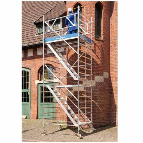 C.O.Weise GmbH&Co.KG Rollgerüst mit Treppenaufgang, AH 6,50 m 6.50 m