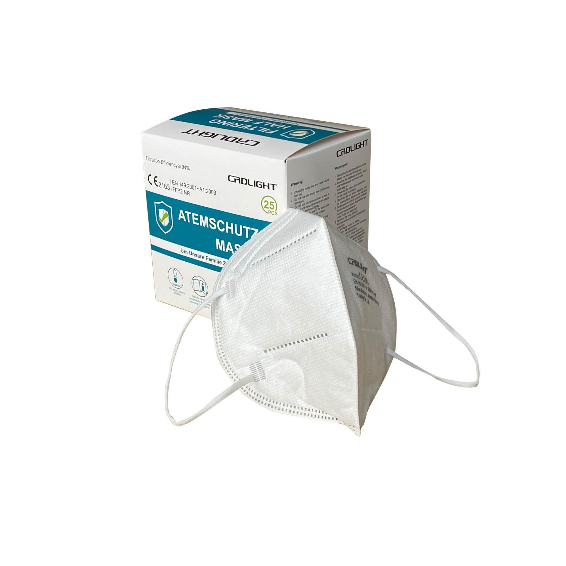 Fernholz & Gördes Atemschutzmaske FFP2 NR, ohne Ventil (25 Stück)
