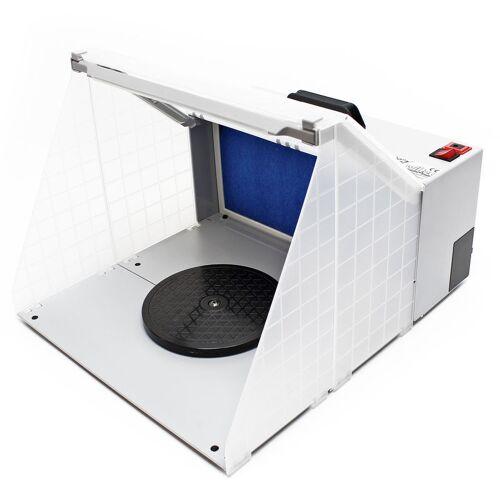 Wiltec - Airbrush Zubehör Absauganlage 4m³ / min Filter Farbnebel