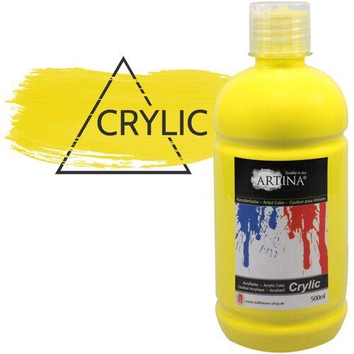 ARTINA Acrylfarbe 500 ml Zitronengelb - Artina