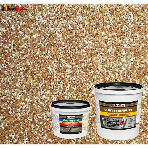 Isolbau - Buntsteinputz SET Mosaikputz BP 40 (braun, weiss, gelb) 20kg
