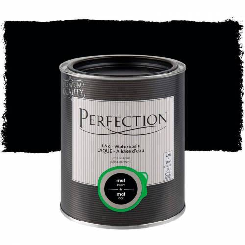 PERFECTION Lack auf Wasserbasis - Matt - 46 Schwarzkohle - 750ml - 10m² - Ultra