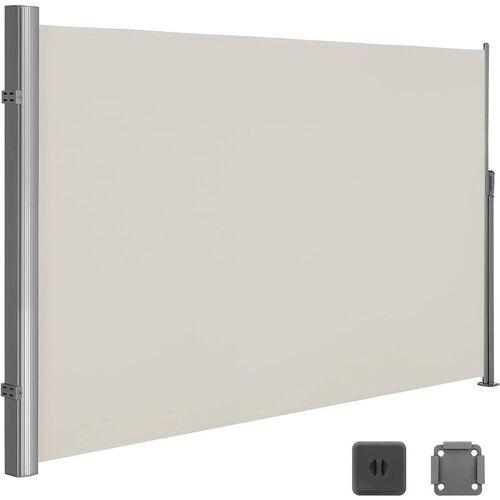 SONGMICS 180 x 350 cm (H x L), Seitenmarkise für Balkon und Terrasse,