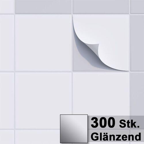 1PLUS Fliesenaufkleber Fliesensticker, 20x20cm, selbstklebend - Fliesen-Folie
