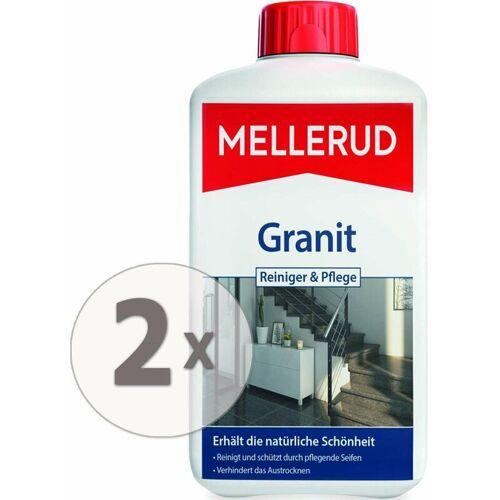 MELLERUD 2 x 1 Liter Granitboden Reiniger und Pflege für innen & außen - Mellerud