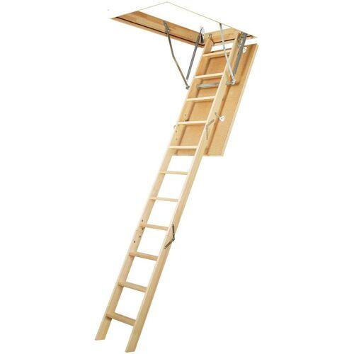 FAKRO Holztreppe Dachboden mit Kork isoliert. Platte 14 cm - 70 x 120 cm