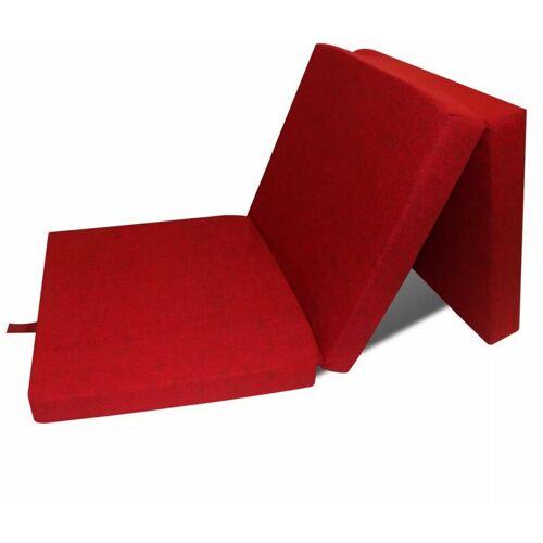 ZQYRLAR 3-teilige Klappmatratze 190×70×9 cm Rot