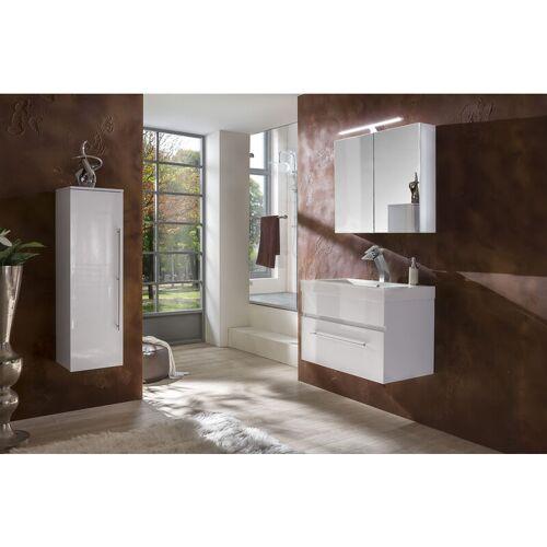 SAM 3tlg Badezimmer Set Spiegelschrank weiß 80 cm Lunar