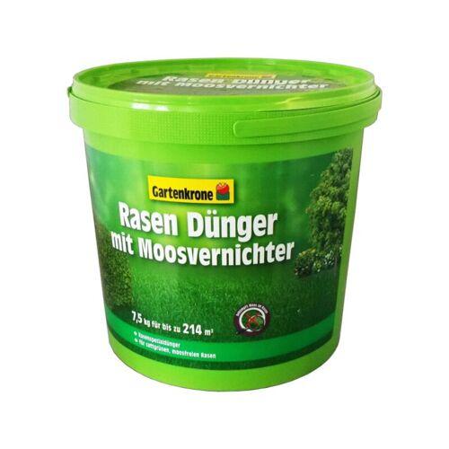 GPI 7,5kg Gartenkrone Rasen Dünger mit Moosvernichter