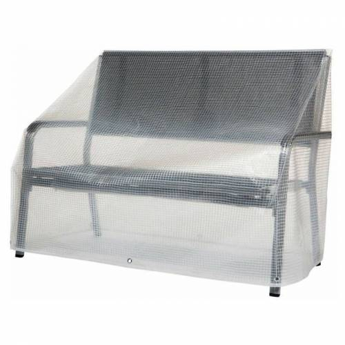 PFLANZEN KÖLLE Abdeckhaube für Gartenbank Classic Line transparent 120x60x60/80 cm