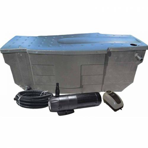AKWADO Teichfilter-Set mit Pumpe und UVC - 8000L - Akwado