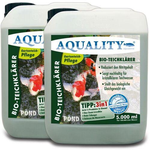 AQUALITY Gartenteich BIO-TeichKlärer 3in1 (Teichklar - Nachhaltig kristallklares