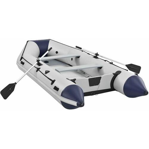 JUSKYS ArtSport Schlauchboot 3,80 m – mit 2 Sitzbänken, Aluboden, Luftpumpe,