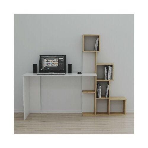 HOMEMANIA Asya Schreibtisch mit Regalen - aus Wohnzimmer, Schlafzimmer,