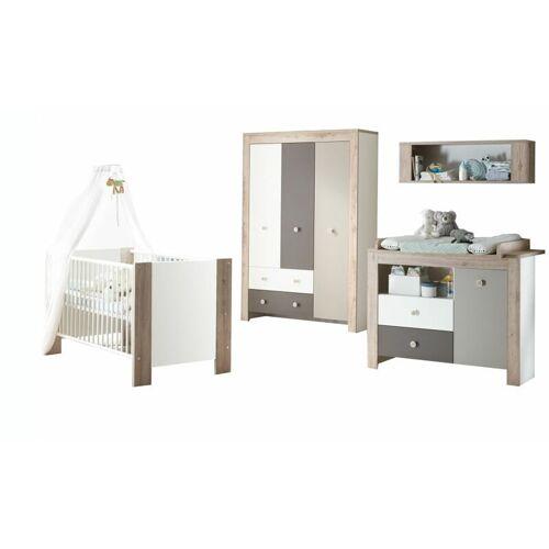 Kindermoebel-24shop - Babyzimmer Bea 4-tlg Babybett + Wickelkommode