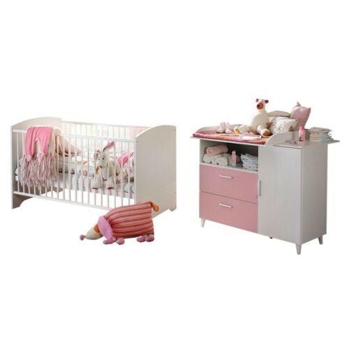 Kindermoebel-24shop - Babyzimmer Elisa 2 - 4-tlg Babybett Wickelkommode