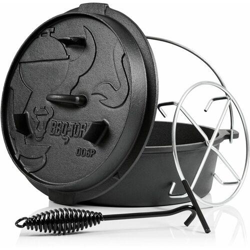 BBQ-Toro Dutch Oven 7,3 L Premium Gusseisen Kochtopf   Gusstopf