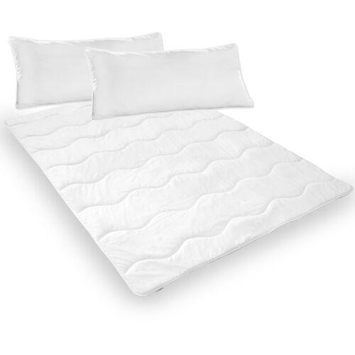 DILUMA Bettdeckenset 200x200 cm Smart 3-teilig - 1x Bettdecke 200x200 cm + 2x