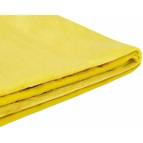 BELIANI Abziehbarer Bezug Gelb für Bett FITOU 160 x 200 cm Samtstoff Elegant