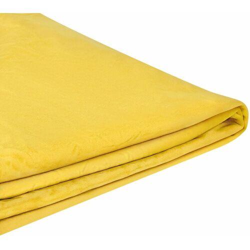 BELIANI Abziehbarer Bezug Gelb für Bett FITOU 180 x 200 cm Samtstoff Elegant
