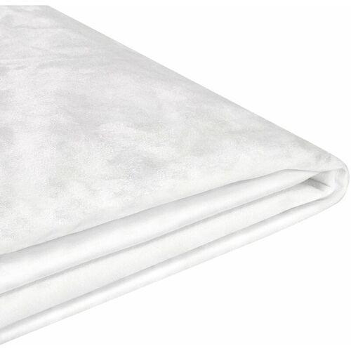 BELIANI Abziehbarer Bezug Weiß für Bett FITOU 160 x 200 cm Samtstoff Elegant