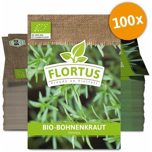 FLORTUS WERBESAMENTüTEN Bohnenkraut (100 Tütchen)   BIO Bohnenkrautsamen von FLORTUS