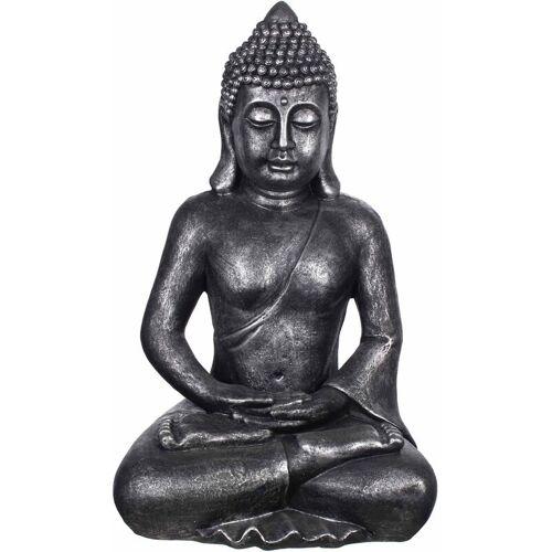 BIRENDY Buddha B4001 Antiksilber Figur XXL 64cm Statue groß Büste
