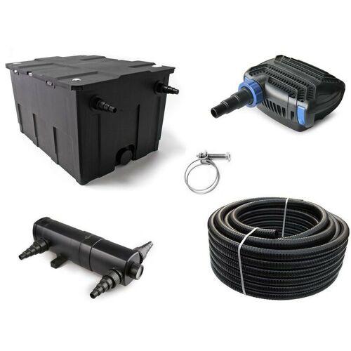 Aquaristikwelt24 - Kammerfilter Set CBF 550 mit 20W Eco Pumpe 10m