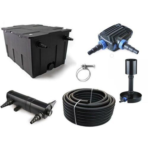 Aquaristikwelt24 - Kammerfilter Set CBF 550 mit 40W Eco Pumpe 10m